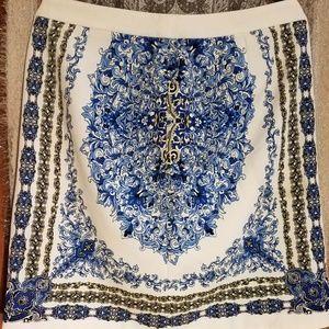 Laundry by Shelli Segal Bright Blue Beret Skirt